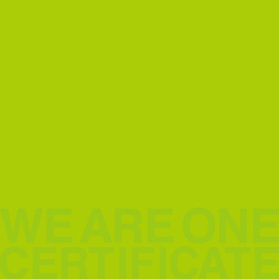 WE ARE ONE -CERTIFICATE-