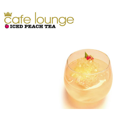 cafe lounge ICED PEACH TEA