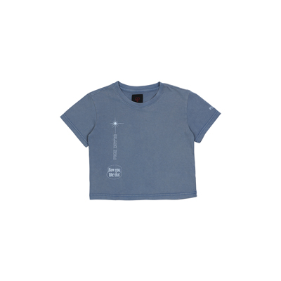 [H.Y.L.T] BLACKPINK CROPPED T-SHIRTS BLUE S