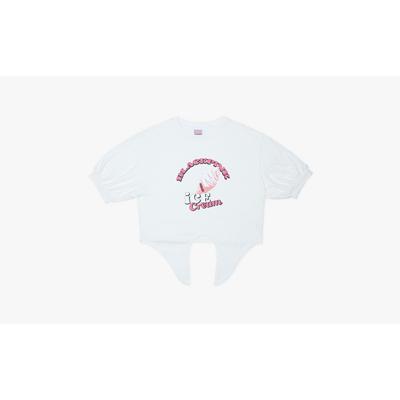 [Ice Cream] BLACKPINK T-SHIRTS TIE-UP ICECREAM CONE WHITE M