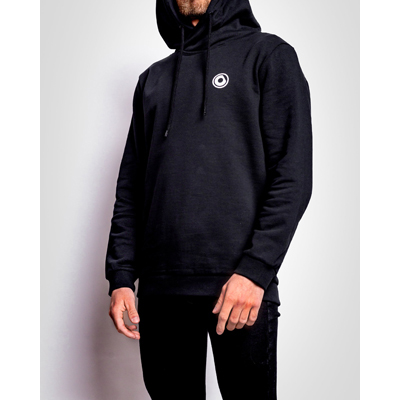 PRTCL Hoodie - white on black