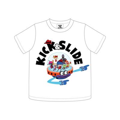 K&S キャラクター T/S KIDS_WHITE