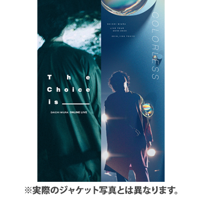 DAICHI MIURA LIVE COLORLESS / The Choice is _____(Blu-ray Disc2枚組+CD4枚組)