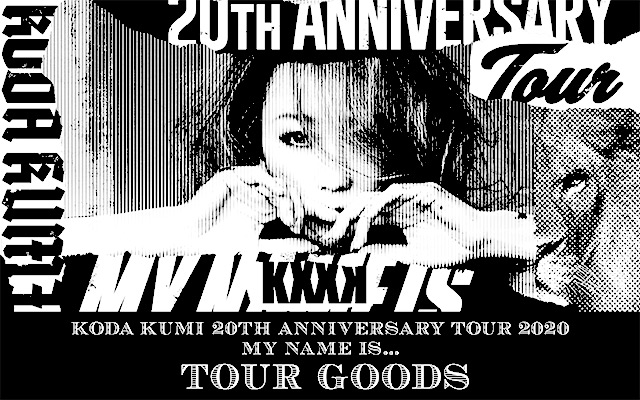 「KODA KUMI 20th ANNIVERSARY TOUR 2020 MY NAME IS...」グッズ