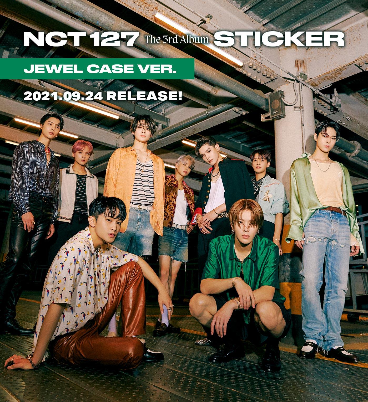 NCT 127 The 3rd Album-'Sticker'【Jewel Case Ver.】2021.09.24 RELEASE!