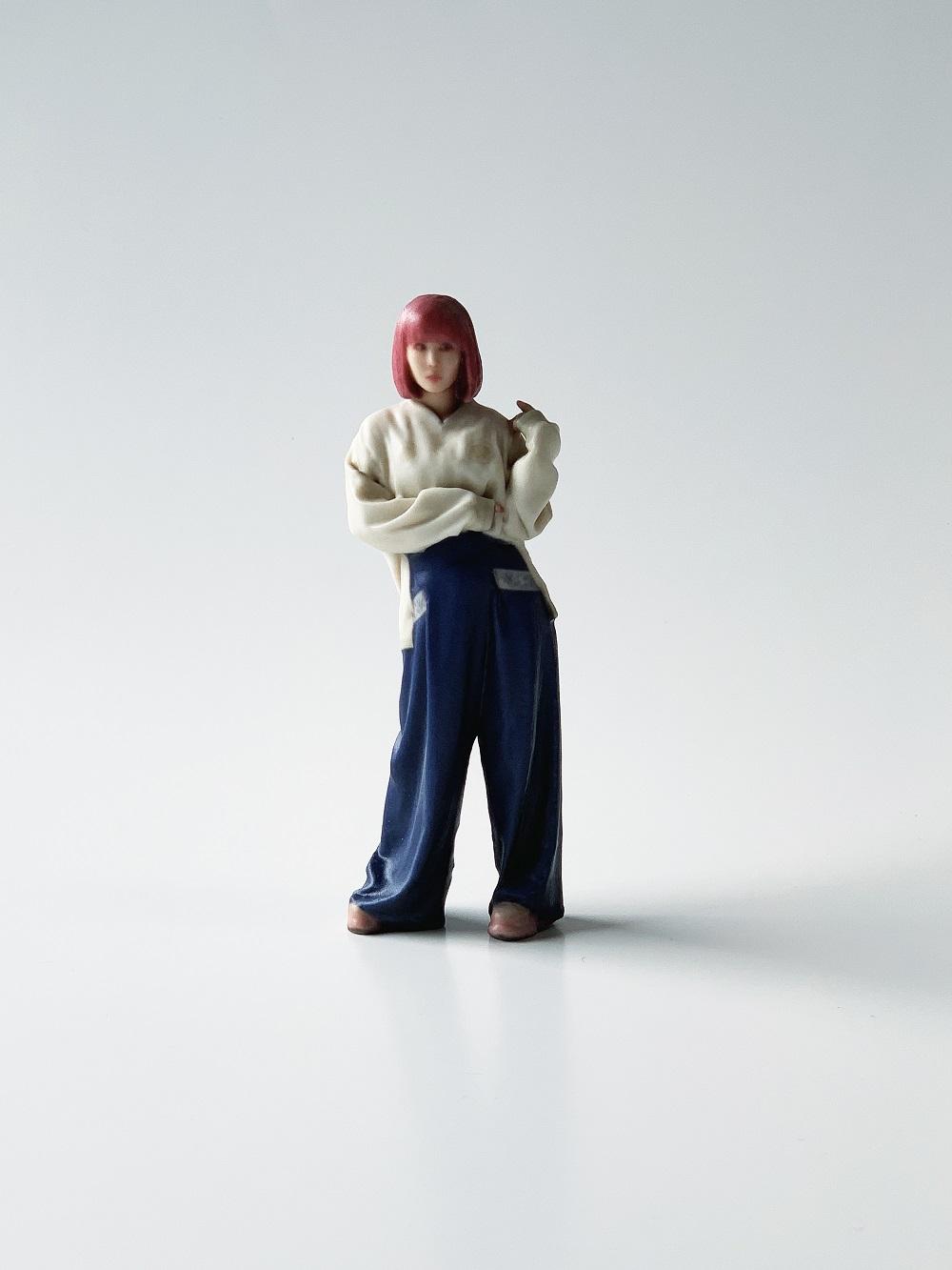 ④ 白スカジャン青ぱんつ靖子ちゃん