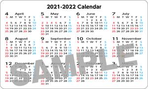 ポケットカレンダー(名刺サイズ)
